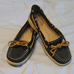 Sperry Top Sider Black Gold 6.5 M
